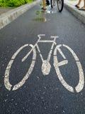 cykellane Fotografering för Bildbyråer
