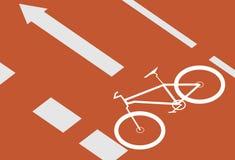 cykellane Arkivfoto