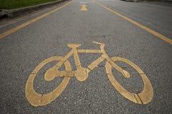 CykelLane Royaltyfri Fotografi