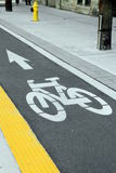 CykelLane Arkivbild
