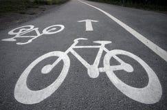 cykellane Arkivbilder