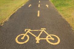 Cykellane och walkway Royaltyfri Foto