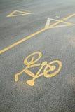 Cykellane och walkway Royaltyfri Bild