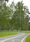 cykellanepark Royaltyfri Bild