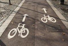 cykellanevägmärke Royaltyfri Bild