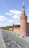 Cykellopp på Kremlinvallningen Arkivbild