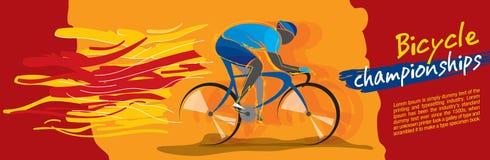 Cykelmästerskapvektor vektor illustrationer