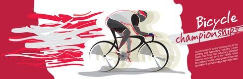 Cykelmästerskapvektor royaltyfri illustrationer