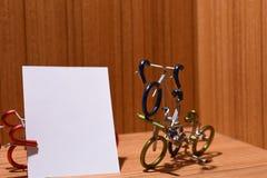 Cykelmodeller och textområden Arkivfoto