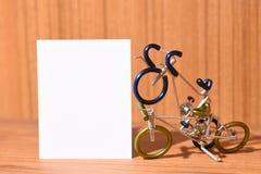 Cykelmodeller och textområden Fotografering för Bildbyråer