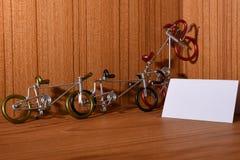 Cykelmodeller och textområden Arkivfoton