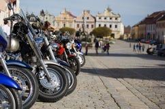 cykelmotorfyrkant Arkivfoto