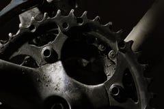 cykeln gears berg fotografering för bildbyråer