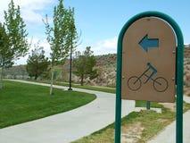 Cykeln parkerar Royaltyfri Bild