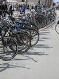 Cykeln parkerar Royaltyfria Bilder