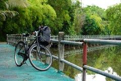 Cykeln parkerar Arkivfoto