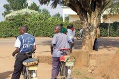 cykeln rwanda taxar Arkivfoto