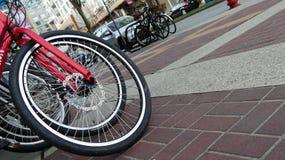 Cykeln shoppar utomhus- cyklar Arkivfoton