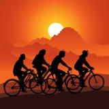 Cykeln turnerar Arkivfoton