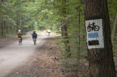 Cykeln undertecknar Royaltyfria Foton
