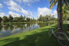 cykelpark Arkivfoton