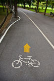 cykelpark långt Arkivbild
