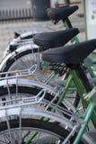 cykelparkering arkivbilder