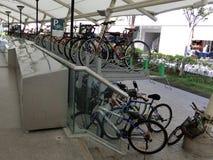 Cykelparkeringsfjärd Fotografering för Bildbyråer