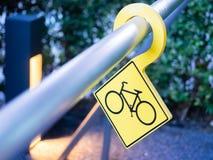 Cykelparkeringstecken Royaltyfria Foton