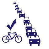 cykelpendlingssträckatecken Royaltyfri Bild