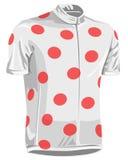 cykelprickjersey polka Arkivfoton