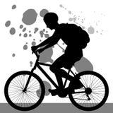 cykelridningtonåring royaltyfri illustrationer