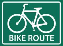 Cykelrutt arkivbild