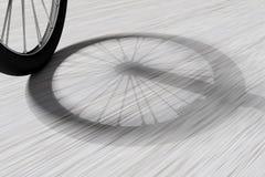 Cykels hjulskugga på golv stock illustrationer