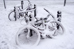 cykelsnow Arkivbild