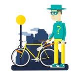 Cykelstöld på gatorna Royaltyfria Foton