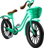 Cykelstad också vektor för coreldrawillustration Fotografering för Bildbyråer