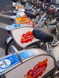 Cykelstation Fotografering för Bildbyråer