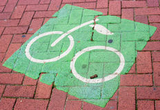 Cykelsymbol Arkivbilder