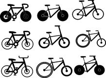 Cykelsymbol stock illustrationer