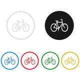 Cykelsymbol, allsång, illustration Fotografering för Bildbyråer