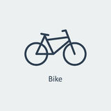 Cykelsymbol vektor Arkivfoton