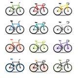 Cykelsymboler Royaltyfri Fotografi
