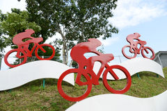 Cykelsymboltecken Royaltyfria Foton