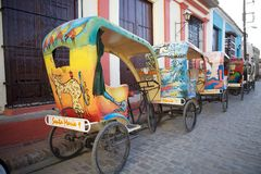 Cykeltaxi Royaltyfri Bild