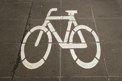 cykeltecken Arkivbild
