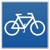 cykeltecken royaltyfri illustrationer