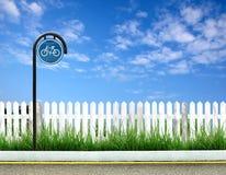cykeltecken Arkivfoton