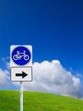 cykeltecken Royaltyfri Fotografi