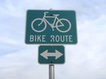 cykelteckentrafik Royaltyfri Foto